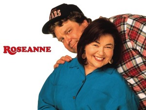 John Goodman as Dan Conner and Roseanne Barr as Roseanne Conner