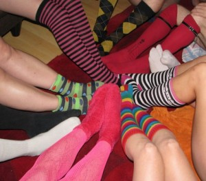 Surrounded by sock-positive people!