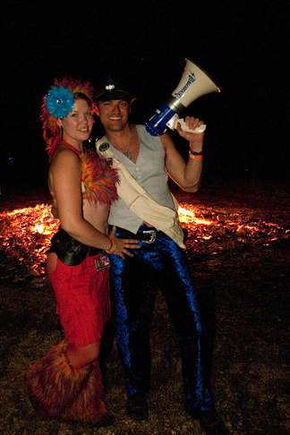 Stacey and her partner, Zay, at Gateway, after the effigy burn.