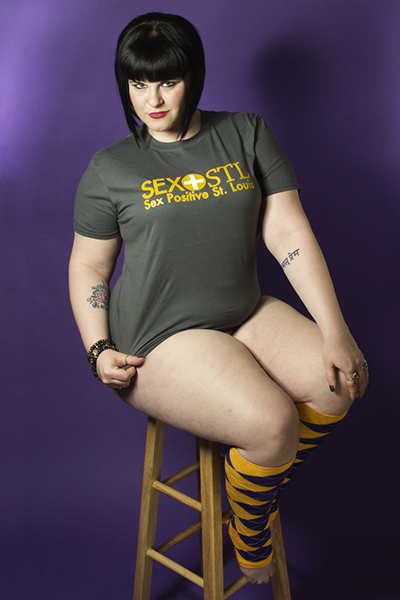Michelle Moon rocks a SEX+STL T-Shirt because she's awesome like that. Don't you want to be awesome?
